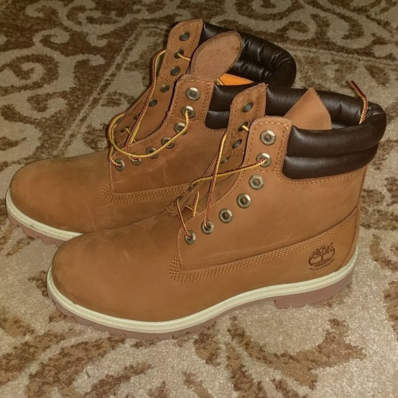 c0d4bfe0906 Men's Timberland 6' Premium Boots Size 8W NWT